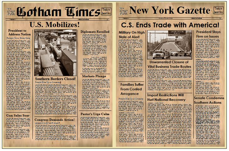 old timey newspaper templates free