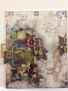 Mixed Media Canvas Art with G45 French Country   My Butterfly Garden