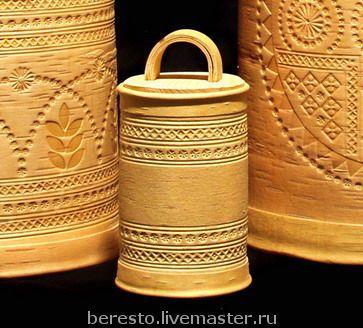 Туес со сколотня с тиснением - народная традиция,ручная работа,русский сувенир