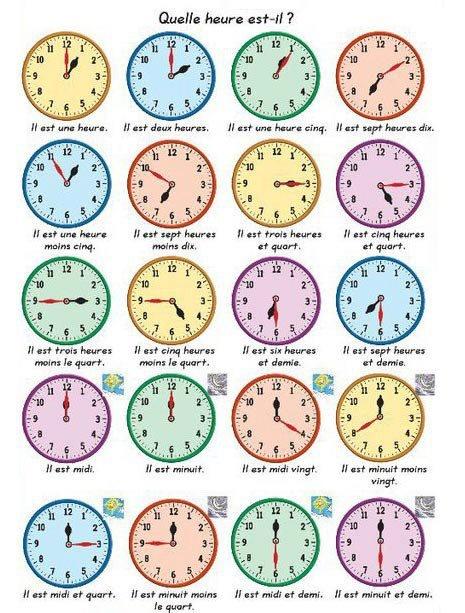 lire l 39 heure en fran ais horloge pinterest. Black Bedroom Furniture Sets. Home Design Ideas