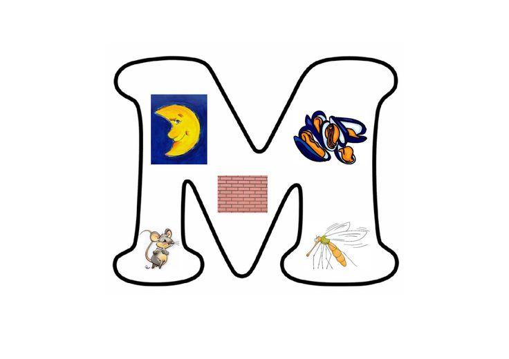 Letterpuzzel - Letter M
