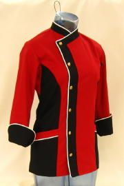 women's red coats | Restaurant Uniforms - Hotel Uniforms – Custom Restaurant Uniforms ...