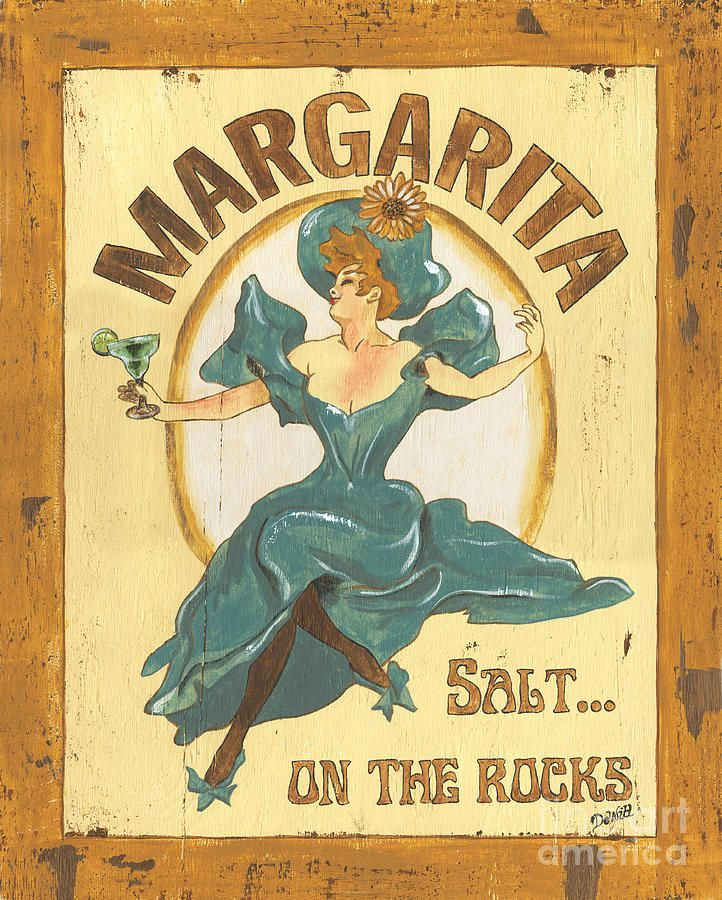 Margarita Salt On The Rocks Painting