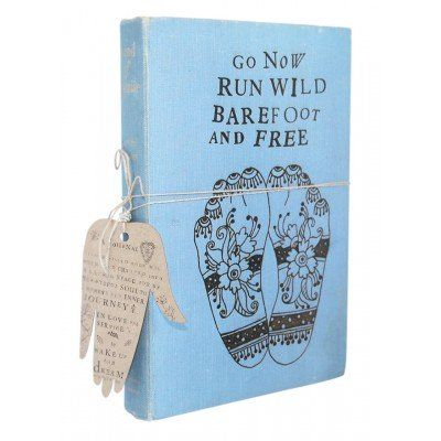 A lovely handmade journal to use for writing your thoughts and dreams. Made from old, upcycled book covers and recycled paper. Wake Up and Dream Journal - Go Now Run Wild from Faithful to Nature. Eco-friendly, green and zero waste product from South Africa. Affiliate link.
