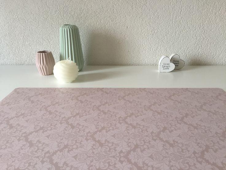 fraaie bureaulegger voor meisjes in barokprint in taupe. Black Bedroom Furniture Sets. Home Design Ideas