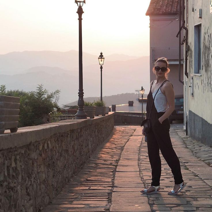 Beautiful old village in the middle of Italian hills - exploring Tuscany  #village #Italy #tuscany #toscana #italianlife #love #trees #outfit #outfitoftheday #czechgirl #girl #overall #bun #blondie #travel #traveling #blogger #likeforlike #like4like #l4l #pictureoftheday #picture #sunset #beauty #beautiful