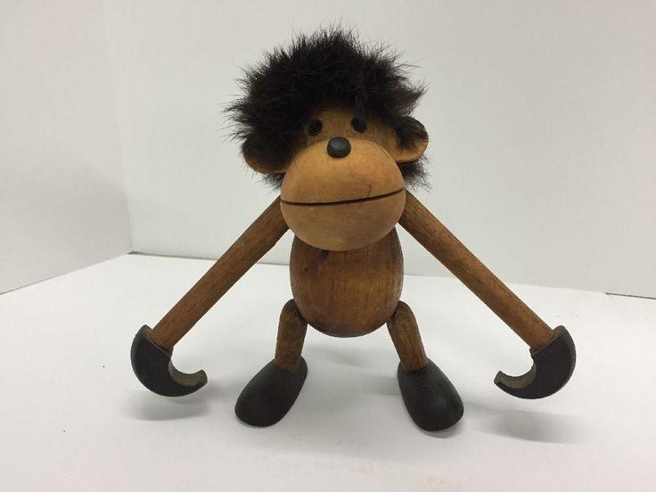 Vtg 1960s Teak Wood Monkey Arne Basse for Sveistrup Bojesen Era Denmark