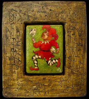 Деревянная картина Игра, Авторские картины, Павла Николаева, Готический наив, Картины из дерева, Авторское изделие, единственный экземпляр, Резьба по дереву картины,