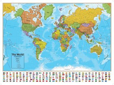 Stor plakat av verdenskart