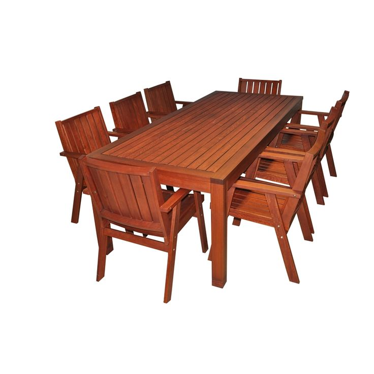 Mimosa 9 Piece Red Gum Timber Setting