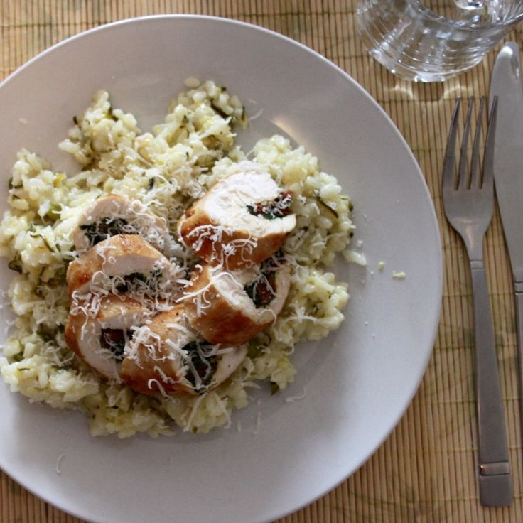 Chicken Ballotine with Courgette Risotto   Read it & Try it
