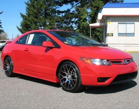 2008 Honda Civic Si sports coupe — $12995