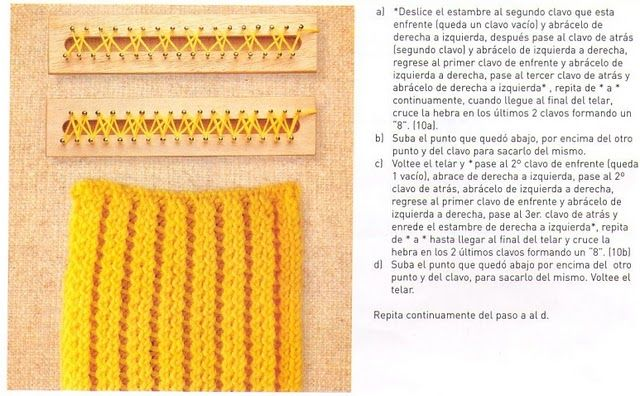Loom Knitting Stitch Guide 2 : 1000+ images about Loom knitting on Pinterest Loom knitting stitches, Loom ...