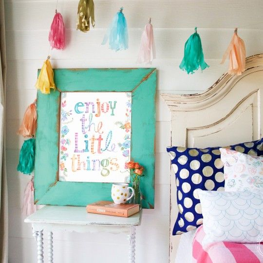 enjoy the little things -original art -  the handmade home