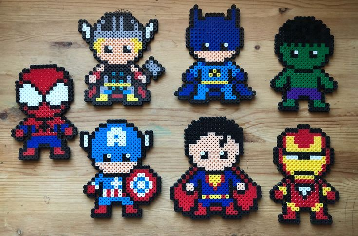 Excited to share the latest addition to my #etsy shop: Superheroes perler beads #vintage #collectibles #superhero #funny #marvel #kids #superheroes #animation #spiderman #perlerbeads #perler