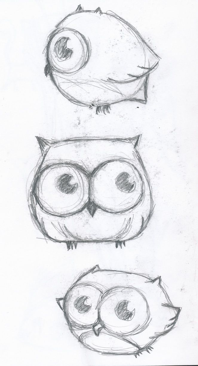 Cute little owl drawing - Maybe a tattoo?