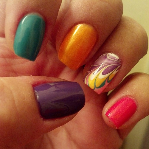 #31DC2012 Day 20- Water Marbling. This technique is the ...