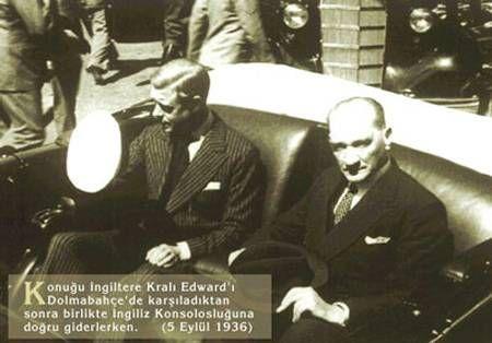 Atatürk İngiltere Kralı Edward ile