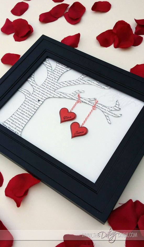 """It's really not too early to start planning for Valentine's Day. Cute """"Two Little Lovers Sitting in a Tree"""" craft!"""