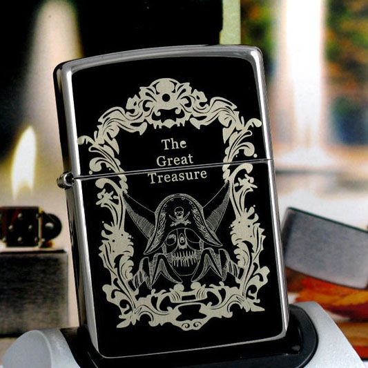 Black ice Pirates of the Caribbean Zippo Lighter