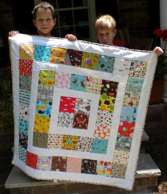 good charm pack quilt...this would be great for all those replica fabrics I have