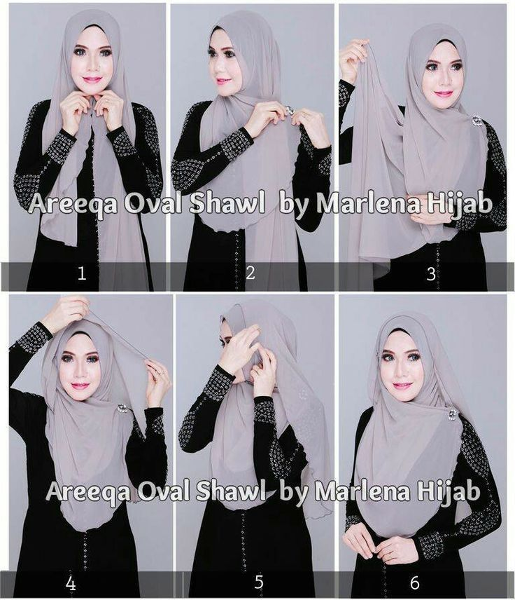 Lovely Hijab Tutorial With A Brooch. Love how these Asian women women wear their scarves
