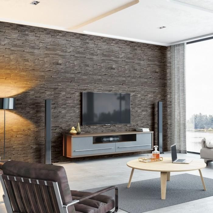 Get A Great Feature Wall At A Fracion Of The Cost 44 99 Per Pack Brick Wall Paneling Living Spaces Wall Panels