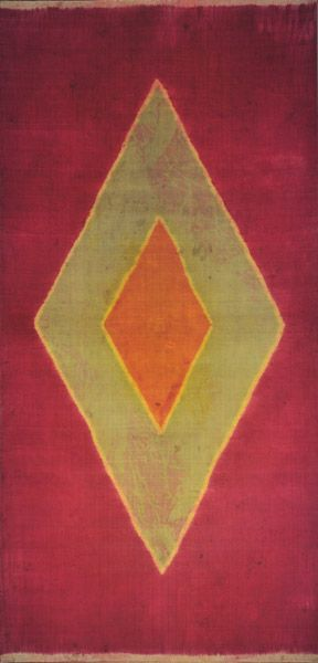 Kain Lawon (Women's Shawl). 19th century. Palambang, Sumatra - Indonesia. Often likened to the paintings of Mark Rothko, the ageing silk of the Kain Lawon has a soft shimmer and delicate surface unlike any painting. They are vibrant, elegant and stylistically modern despite being a century old. This and more rare Asian textiles for sale on CuratorsEye.com.