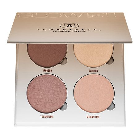 Shop Anastasia Beverly Hills' Glow Kits at Sephora. These glow kits feature four metallic powder highlighters for the eyes and body.