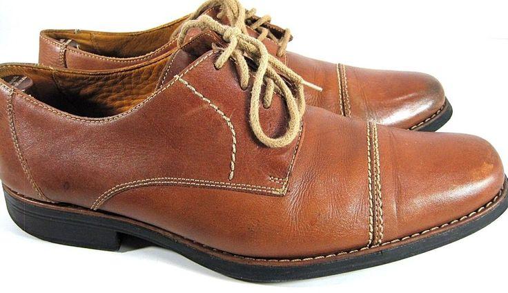 Sandro Moscoloni Men Captoe Men Shoes Size 10.5 D Tanish Brown Style 17305 #SandroMoscoloni #Oxfords