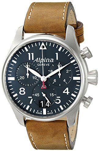 17 best ideas about men luxury watches nice watches alpina men s al 372n4s6 startimer pilot chronograph big date analog display swiss quartz brown watch