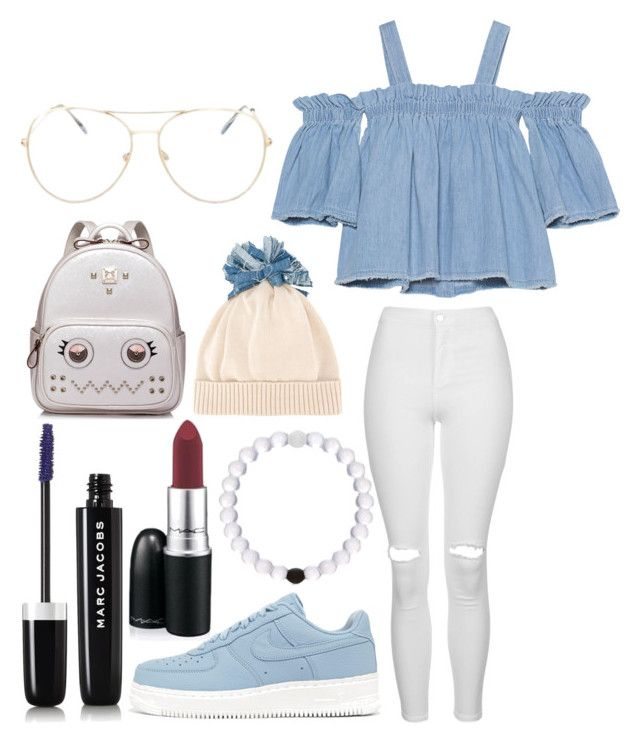 """""""Untitled #341"""" by alreemaljassim on Polyvore featuring SJYP, Topshop, NIKE, Federica Moretti, WithChic, Marc Jacobs and MAC Cosmetics"""