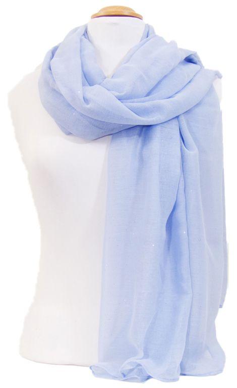 Foulard bleu fines paillettes. Découvrez sur mesecharpes.com + de 150  foulards chic pour femmes. Port gratuit et paquet cadeau offert    mesecharpes.com ... 697019a20f3