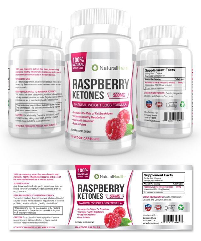 Raspberry Ketone Supplement Label Template http://www.dlayouts.com/template/853/raspberry-ketone-supplement-label-template