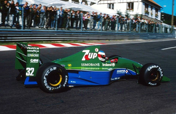 F1 1991 Belgian Grand Prix (Spa-Francochamps) Michael Schumacher Team 7Up Jordan Ford 191