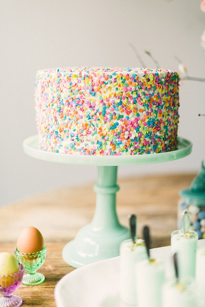 A sprinkle cake could be used any time of year! #mollietakeover