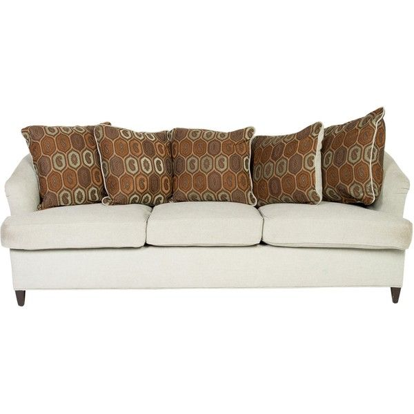 Pre Owned Upholstered Sofa ($745) ❤ Liked On Polyvore Featuring Home,  Furniture