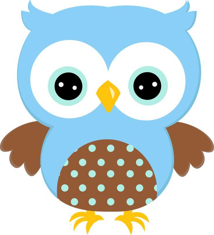 Dibujos. Clipart. Digi stamps - Búhos - Owl Pattern