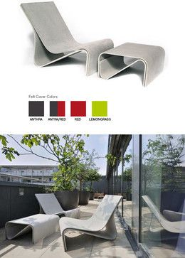 Sponeck Modern Garden Chaise Lounge Chair contemporary-outdoor-chaise-lounges