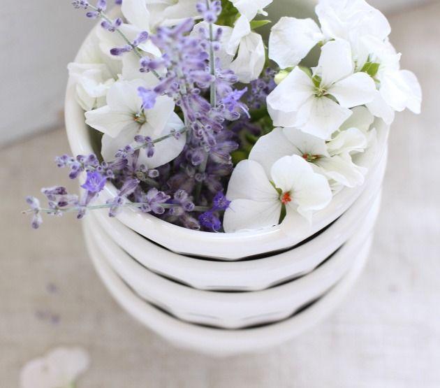 Russian sage bliss: Bowl, Rose, Flowers Arrangements, Romance