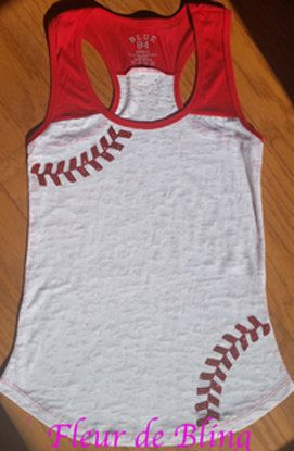 Glitter  Baseball Mom Tank by FleurdeBling on Etsy
