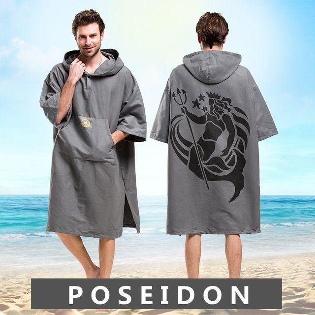 612766900936 Poseidon Printing Changing Robe Bath Towel Outdoor Adult Hooded Beach Towel  Poncho Bathrobe Towels Women Man Bathrobe LST Review