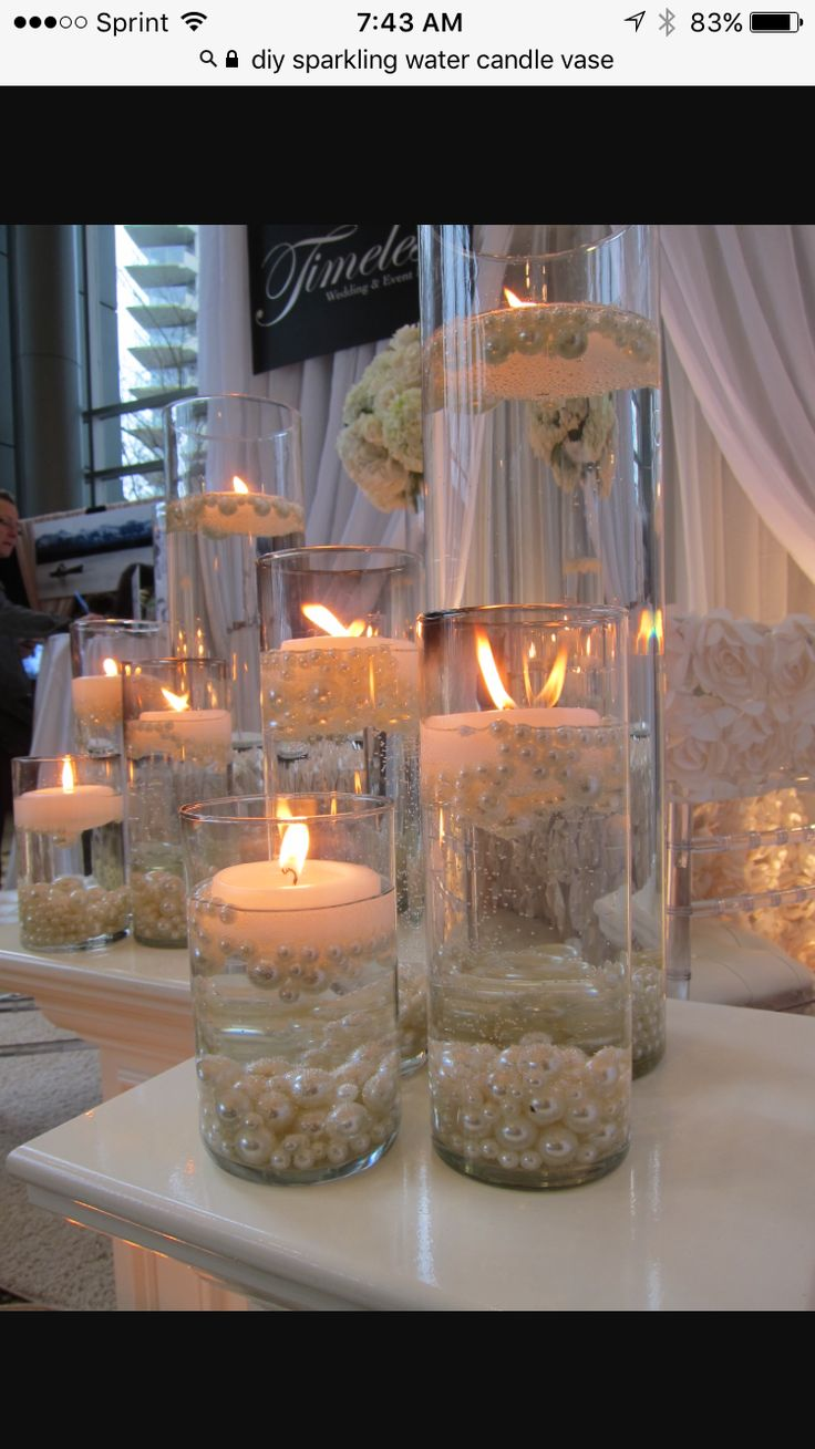 17 best ideas about pearl wedding centerpieces on