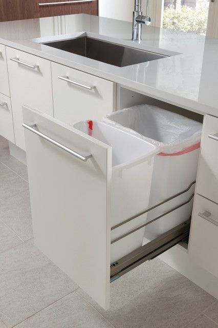 this pull out bin is nothing new, but it is a must in every kitchen design. Spring European Interior Trends 2016. http://amzn.to/2keVOw4
