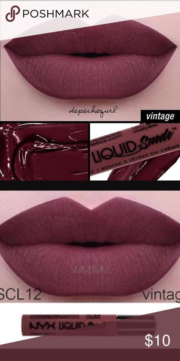 NYX Liquid Suede Vintage New unused wrapped NYX liquid suede. Beautiful color for fall. Taking reasonable offers and questions. Take advantage of our bundle discount NYX Makeup Lipstick