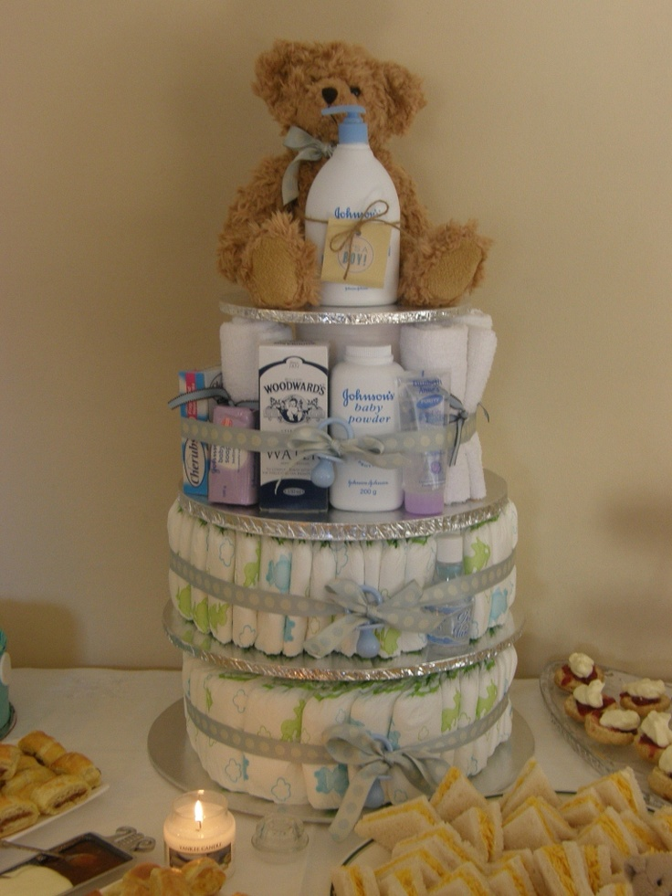 Nappy cake for baby shower