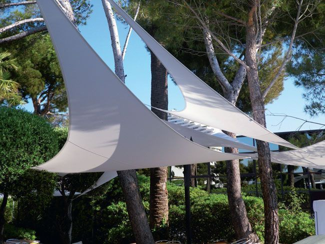 44 best Voiles du0027ombrage images on Pinterest Shade sails - toile a tendre pour terrasse