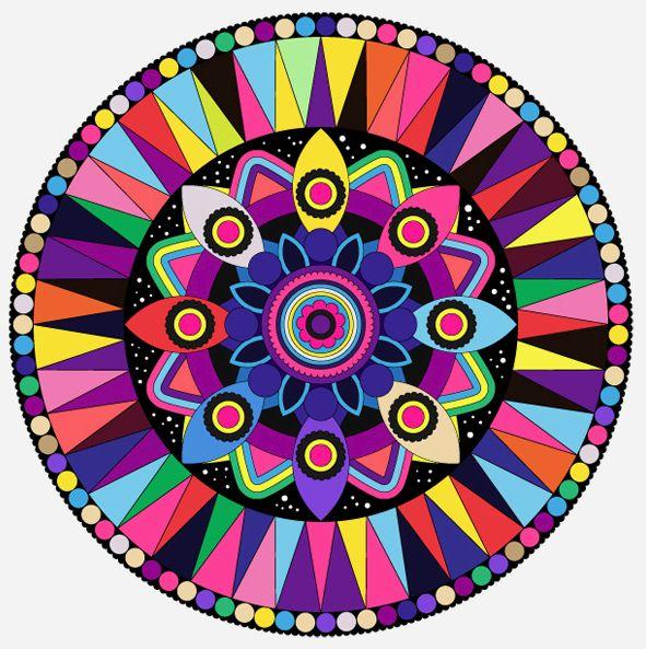 taste the rainbow #Mandala
