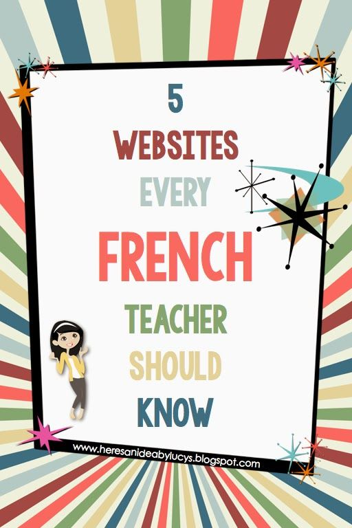 Here's an idea: Free French eBook and 5 French websites every French teachers…