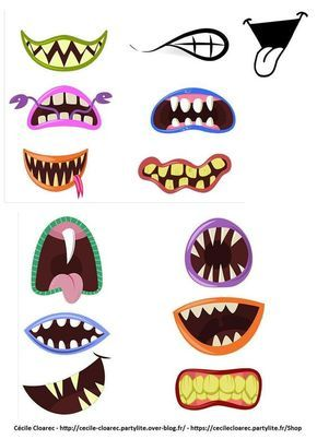 Masques-bouches de monstres gentils